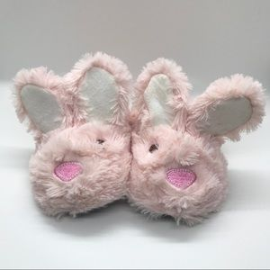 Laura Ashley pale pink bunny slippers